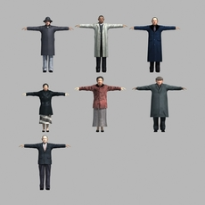 asian people 3D Model