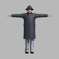 asian man 3D Model