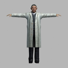 asian man 02 3D Model