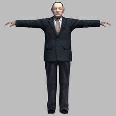 asian man 04 3D Model