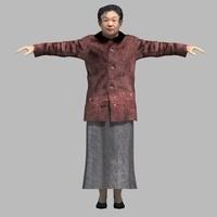 asian woman 3D Model