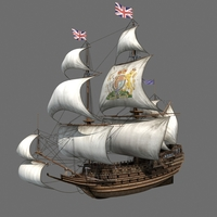 british ship 3D Model