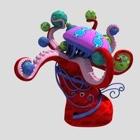 Octopus (amusement park) 3D Model
