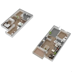 The floor plan (Compound floor) 3D Model