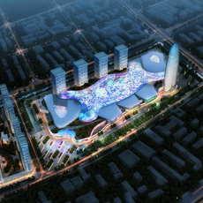 City shopping mall 036 3D Model