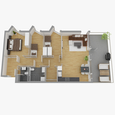 The floor plan02 3D Model