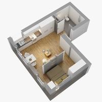Floor plan 04 3D Model