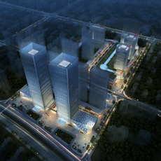 City shopping mall 039 3D Model