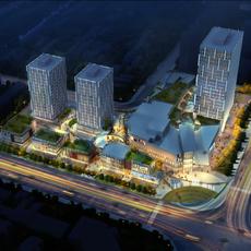 City shopping mall 040 3D Model