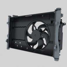 Engine cooling fan 3D Model