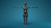 Free Sci-Fi Female Robot 3D Model