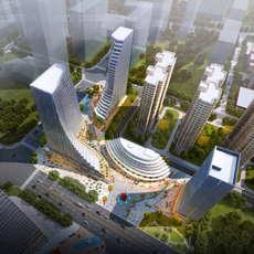 City shopping mall 043 3D Model