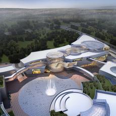 City shopping mall 046 3D Model