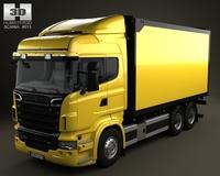 Scania R 730 Box Truck 2010 3D Model