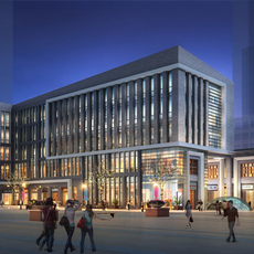 City shopping mall 053 3D Model