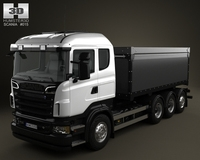 Scania R 730 Tipper Truck 2010 3D Model