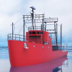 Mini cargo ship 3D Model