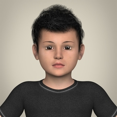 Realistic Little Boy 3D Model