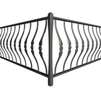 Railing 01 corner 3D Model