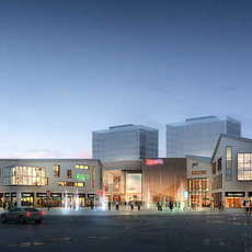 City shopping mall 056 3D Model