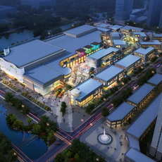 City shopping mall 066 3D Model