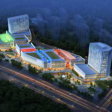 City shopping mall 067 3D Model