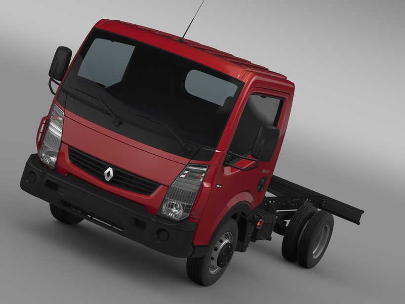 Renault Maxity 2013 Chassi 3D Model