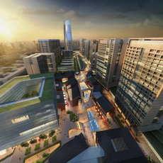 City shopping mall 079 3D Model