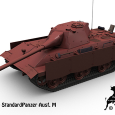E-50 StandardPanzer  Ausf. M 3D Model