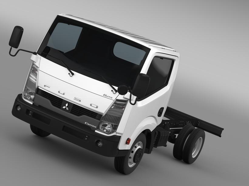 Mitsubishi Fuso Canter Guts Chassi 2015 3D Model