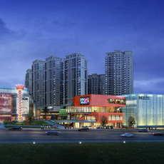 City shopping mall 095 3D Model