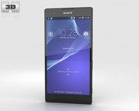Sony Xperia T2 Ultra Black 3D Model