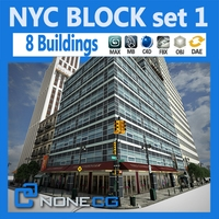 NYC Block Set 1 V2 3D Model