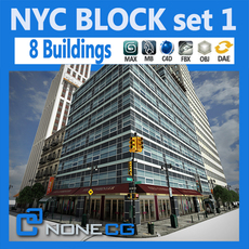 NYC Block Set 1 3D Model