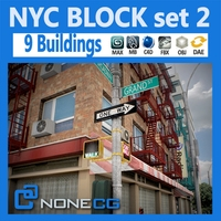 NYC Block Set 2 V2 3D Model