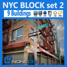 NYC Block Set 2 3D Model