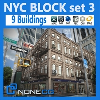 NYC Block Set 3 V2 3D Model
