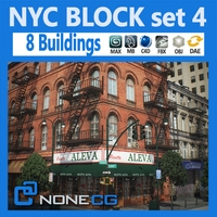 NYC Block Set 4 V2 3D Model