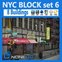 NYC Block Set 6 3D Model