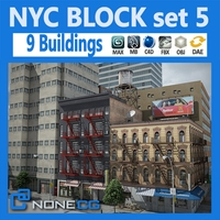 NYC Block Set 5 3D Model