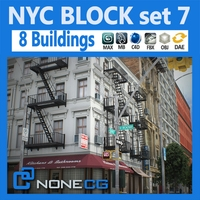 NYC Block Set 7 V2 3D Model