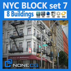 NYC Block Set 7 3D Model