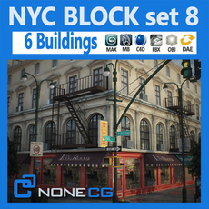 NYC Block Set 8 3D Model