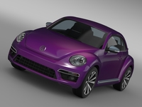 VW Beetle Pink Edition Concept 2015 3D Model