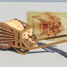 Leonardo Da Vinci -Mechanical Drum 3D Model