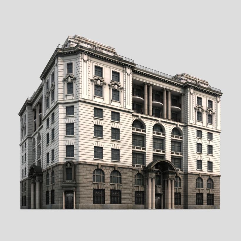 European Building_001 3D Model