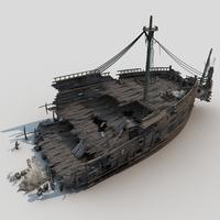 Shipwreck 3D Model