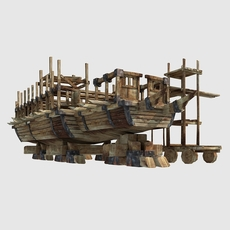 Ship is being built 3D Model