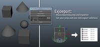 Exjoeport 1.0.1 for Maya (maya script)