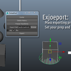 Exjoeport for Maya 1.0.1 (maya script)